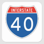 Interstate Sign 40 Square Stickers