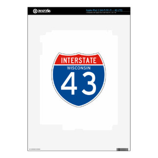 Interstate Sign 43 - Wisconsin Skin For iPad 3