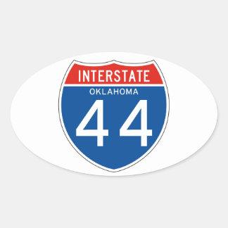 Interstate Sign 44 - Oklahoma Oval Sticker