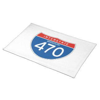 Interstate Sign 470 - Missouri Cloth Placemat