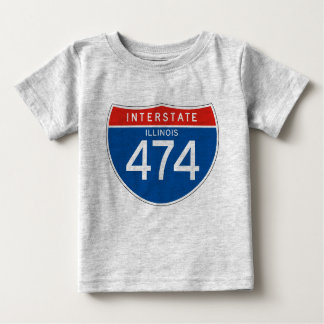 Interstate Sign 474 - Illinois Baby T-Shirt