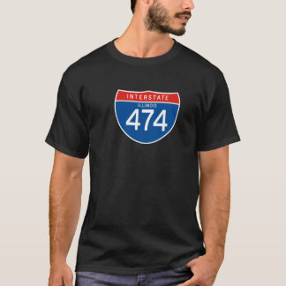 Interstate Sign 474 - Illinois T-Shirt
