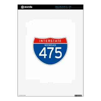 Interstate Sign 475 - Michigan Skins For The iPad 2