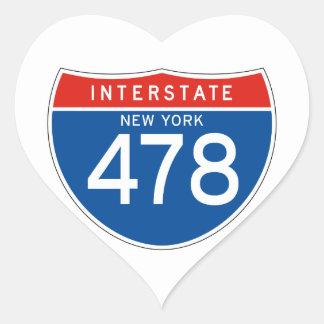 Interstate Sign 478 - New York Heart Sticker