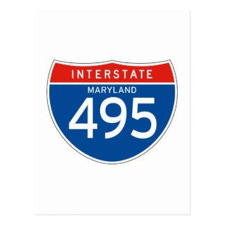 Interstate Sign 495 - Maryland Postcard