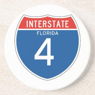 Interstate Sign 4 - Florida Drink Coaster