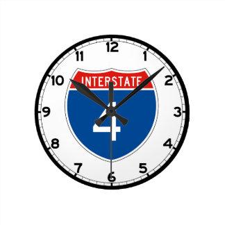 Interstate Sign 4 - Florida Round Clock
