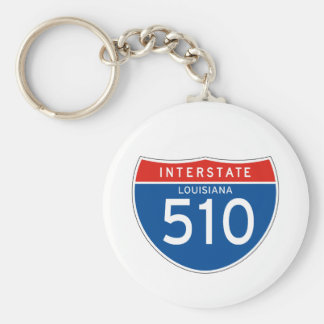 Interstate Sign 510 - Louisiana Keychain