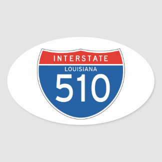 Interstate Sign 510 - Louisiana Oval Sticker