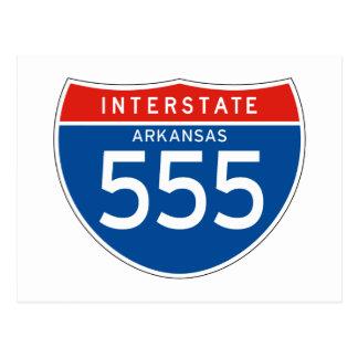 Interstate Sign 555 - Arkansas Postcard