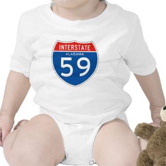 Interstate Sign 59 - Alabama Baby Bodysuits
