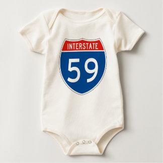 Interstate Sign 59 Bodysuit