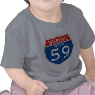 Interstate Sign 59 - Georgia T Shirts