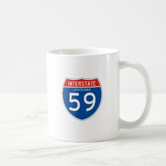 Interstate Sign 59 - Louisiana Classic White Coffee Mug