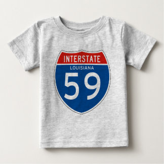 Interstate Sign 59 - Louisiana T Shirt