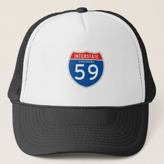 Interstate Sign 59 - Louisiana Trucker Hat