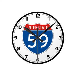 Interstate Sign 59 - Mississippi Round Clock