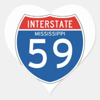 Interstate Sign 59 - Mississippi Sticker