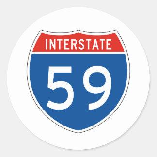 Interstate Sign 59 Sticker