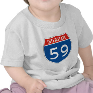 Interstate Sign 59 T-shirts