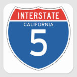 Interstate Sign 5 - California Colcomania Cuadrada