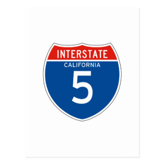 Interstate Sign 5 - Californian Postcard