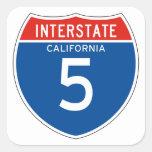 Interstate Sign 5 - Californian Sticker