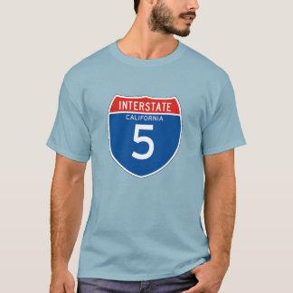 Interstate Sign 5 - Californian T-Shirt