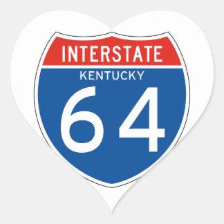 Interstate Sign 64 - Kentucky Heart Sticker