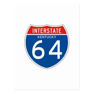 Interstate Sign 64 - Kentucky Postcard