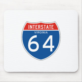 Interstate Sign 64 - Virginia Mouse Pad