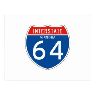 Interstate Sign 64 - Virginia Postcard