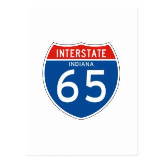 Interstate Sign 65 - Indiana Postcard