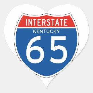 Interstate Sign 65 - Kentucky Heart Sticker