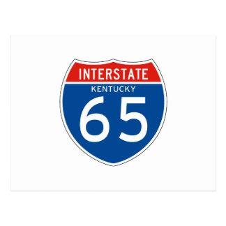 Interstate Sign 65 - Kentucky Postcard