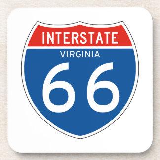 Interstate Sign 66 - Virginia Drink Coasters
