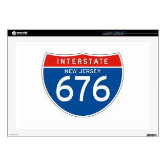 Interstate Sign 676 - New Jersey Skins For Laptops