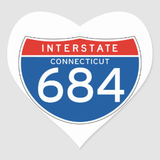 Interstate Sign 684 - Connecticut Stickers
