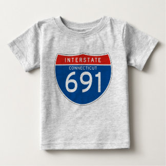 Interstate Sign 691 - Connecticut Baby T-Shirt