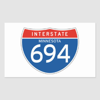 Interstate Sign 694 - Minnesota Rectangle Stickers