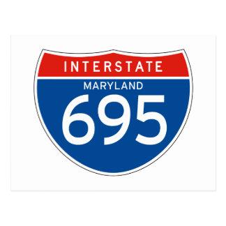 Interstate Sign 695 - Maryland Postcard