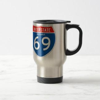 Interstate Sign 69 - Indiana Travel Mug