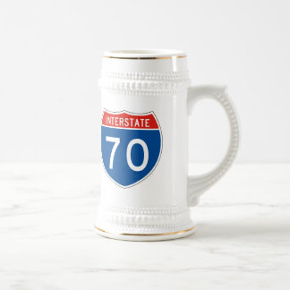 Interstate Sign 70 Beer Stein