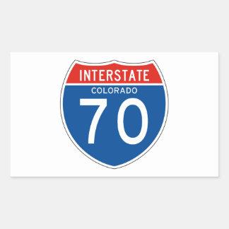 Interstate Sign 70 - Colorado Rectangular Sticker