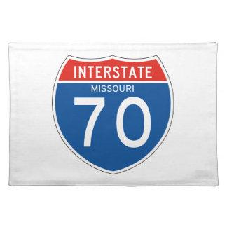 Interstate Sign 70 - Missouri Cloth Placemat