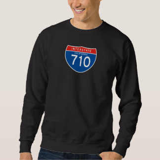 Interstate Sign 710 - California Pull Over Sweatshirts