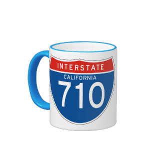 Interstate Sign 710 - California Ringer Mug