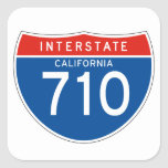 Interstate Sign 710 - California Sticker