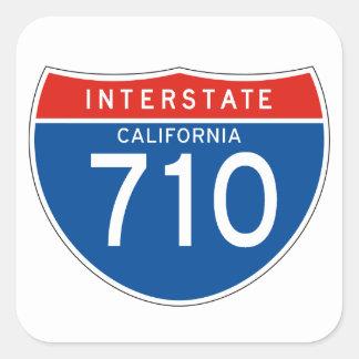 Interstate Sign 710 - California Square Sticker