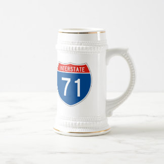 Interstate Sign 71 Beer Stein